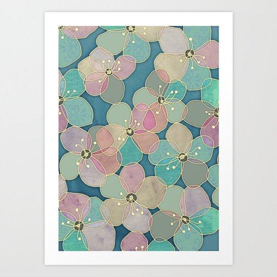 It's Always Summer Somewhere 2 - translucent poppy doodle Art Print