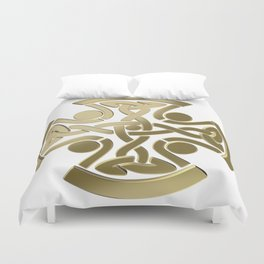 Celtic golden knot Duvet Cover