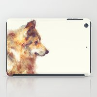 wolf iPad Cases featuring Wolf // True by Amy Hamilton