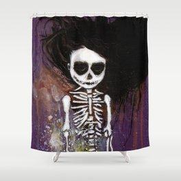 骸骨 壱 Shower Curtain