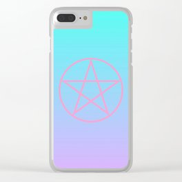 Pastel Pentacle Clear iPhone Case