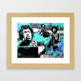 JIMI - 3 portraits Framed Art Print