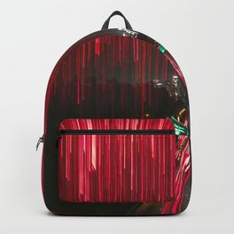 Lights and the LA Skyline at Night Backpack