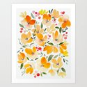 Yellow and Orange Floral by karinlauria