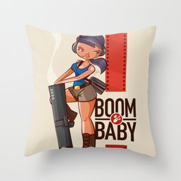 Boom Beach Fan Art - Zooka Throw Pillow