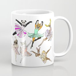 Animal Square Dance Hipster Ballerinas Coffee Mug