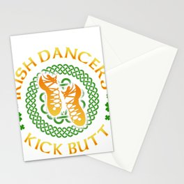 Irish Dancers Kick Butt Shamrock Ireland Lover Irish Heritage Stationery Cards