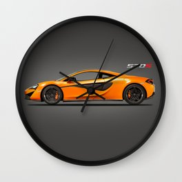 The 570S Supercar Wall Clock