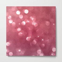 Modern trendy pink elegant burgundy bokeh Metal Print