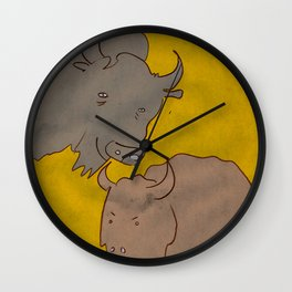 Bison by James Francis Wall Clock