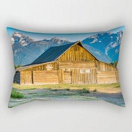 Moulton Barn Sunrise Mountains Print Rectangular Pillow