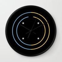 tron Wall Clocks featuring Tron by Sara E. Snodgrass