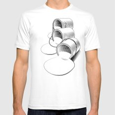 Just Add Color MEDIUM White Mens Fitted Tee