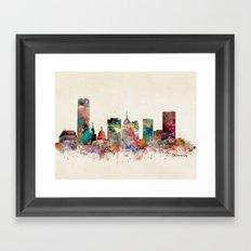 oklahoma city oklahoma skyline Framed Art Print
