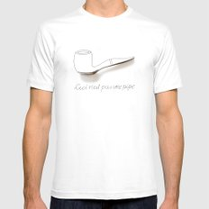 Ceci n'est pas une pipe Mens Fitted Tee White MEDIUM