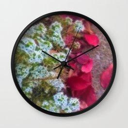 Fall sidewalk Leaves in Kenosha Wall Clock