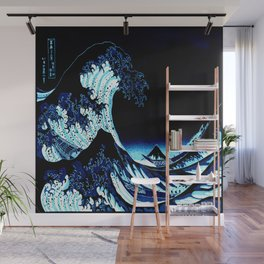 the Great Wave blue Wall Mural