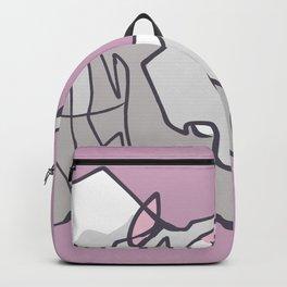 Rhino head hand drawn illustration Backpack