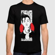 NO WAIFU FOR YOU Mens Fitted Tee Black MEDIUM