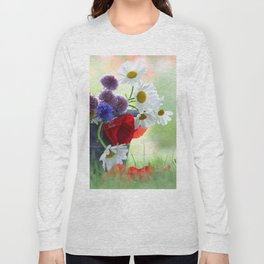 Flower potpourie from the cottage garden Long Sleeve T-shirt