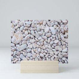 Background from gray sea stones for design Mini Art Print