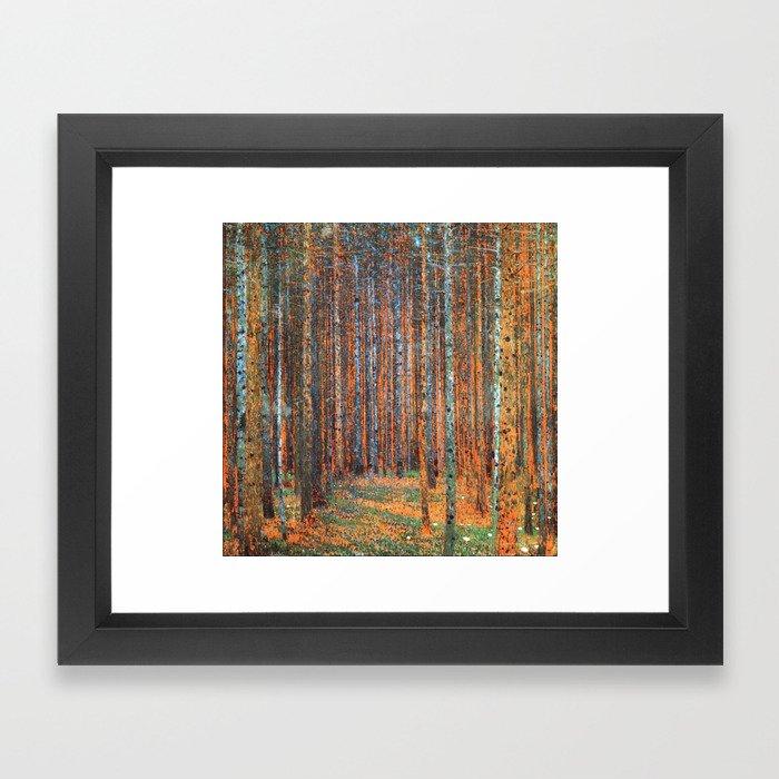 Tannenwald Gustav Klimt Framed Art Print