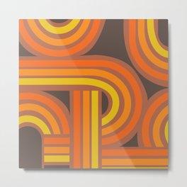 70's Orange Funky Metal Print