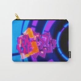 Red Geometry Flows Infinitely Onward Carry-All Pouch