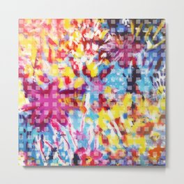 Abstract Colorful Florals Metal Print