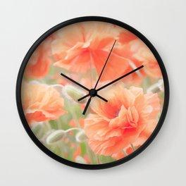 Enchanting Poppies Wall Clock