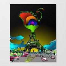 Eiffel Flower Canvas Print