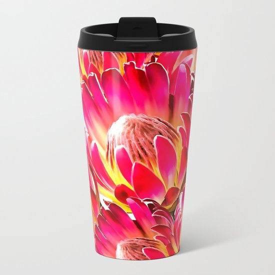 Pink Flower 9 Metal Travel Mug