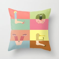 Pantless Project / LOVE (available for custom word) Throw Pillow