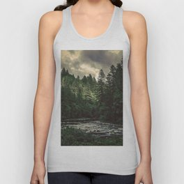 Pacific Northwest River - Nature Photography Unisex Tank Top