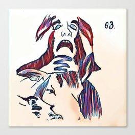 Los Caprichos ~ 63 ~ Look How Solemn Canvas Print