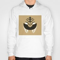 power rangers Hoodies featuring White Rangers Remix by hellostranger