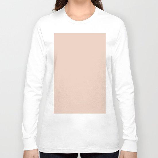 Solid Vintage Rose Pink Long Sleeve T-shirt