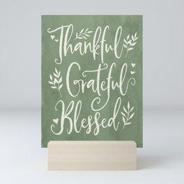 Thankful, Grateful, Blessed Farmhouse Art Mini Art Print