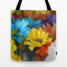colorful flowers Tote Bag