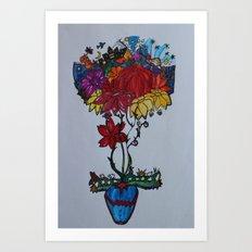 Flowercita de colores Art Print