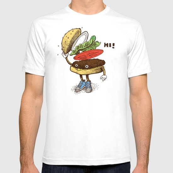 Burger Greeting T-shirt