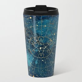 Star Map :: City Lights Metal Travel Mug
