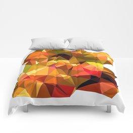 fall colors geo shape Comforters