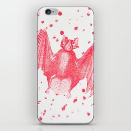 Pink Bats Paint Pattern iPhone Skin
