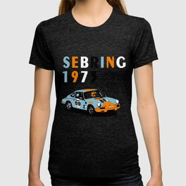 1973 Porsche Carrera RSR At Sebring 12 Hours T-shirt