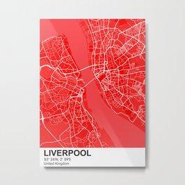 Liverpool city map color Metal Print