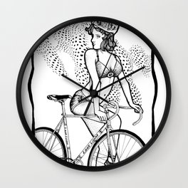 """Bicycle Race""  Wall Clock"