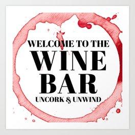 wine bar no. 1 Art Print