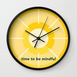Mindfulness 'o' Clock Wall Clock