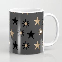 Gold and Black Stars Coffee Mug